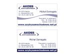 Wizytówki dla firmy Akoss