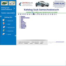 Centroglas - katalog szyb samochodowych
