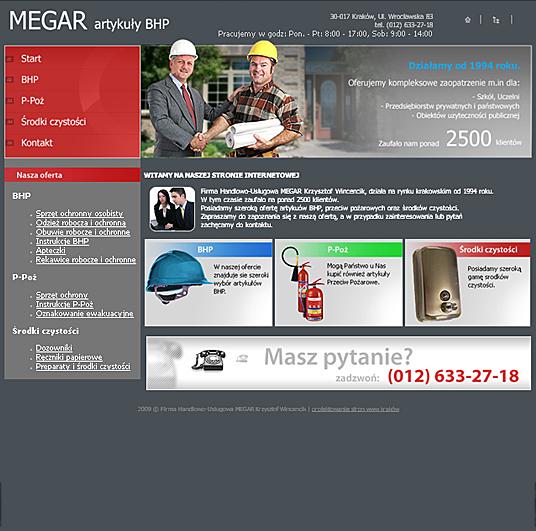Megar Bhp - strona główna